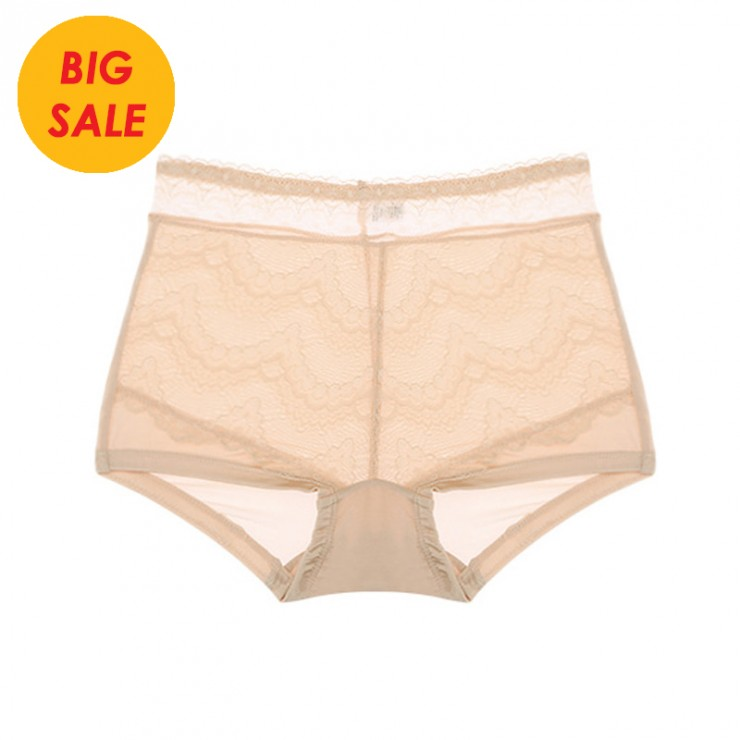 Beige Comfy Cool silk Full Brief Panty