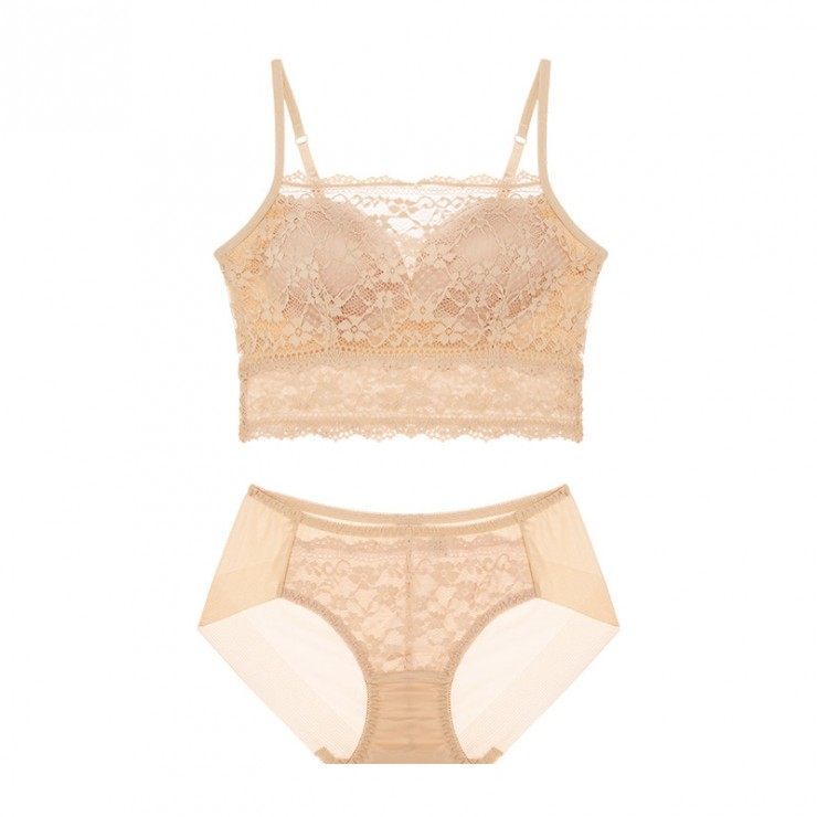 PeachSkin Lacy Magic Lift Bralette (2mm Padded) & Panty Set