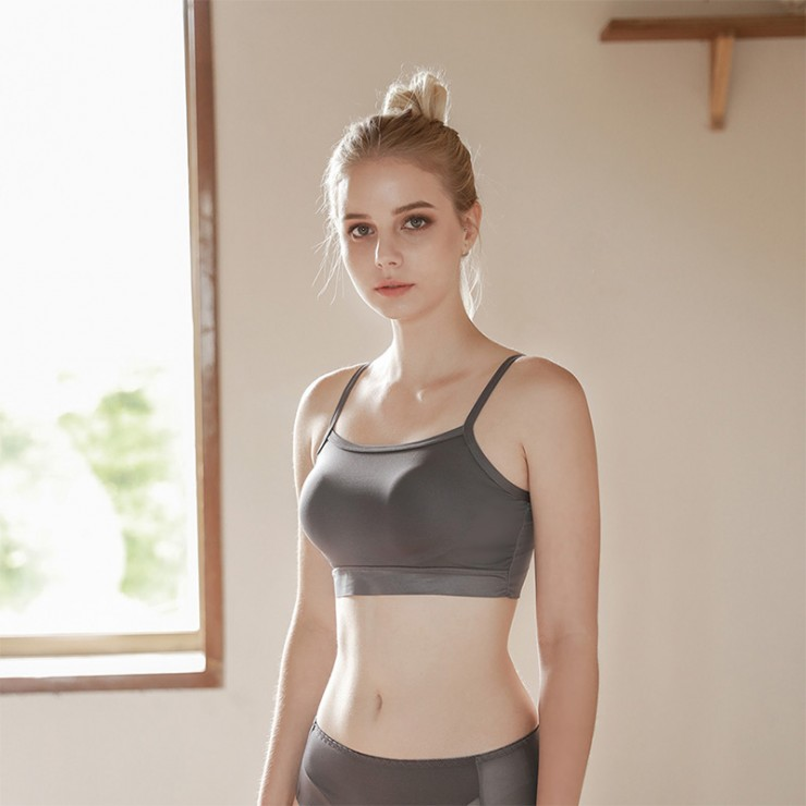 Charcoal Sporty Lulu Bralette (2mm Padded)