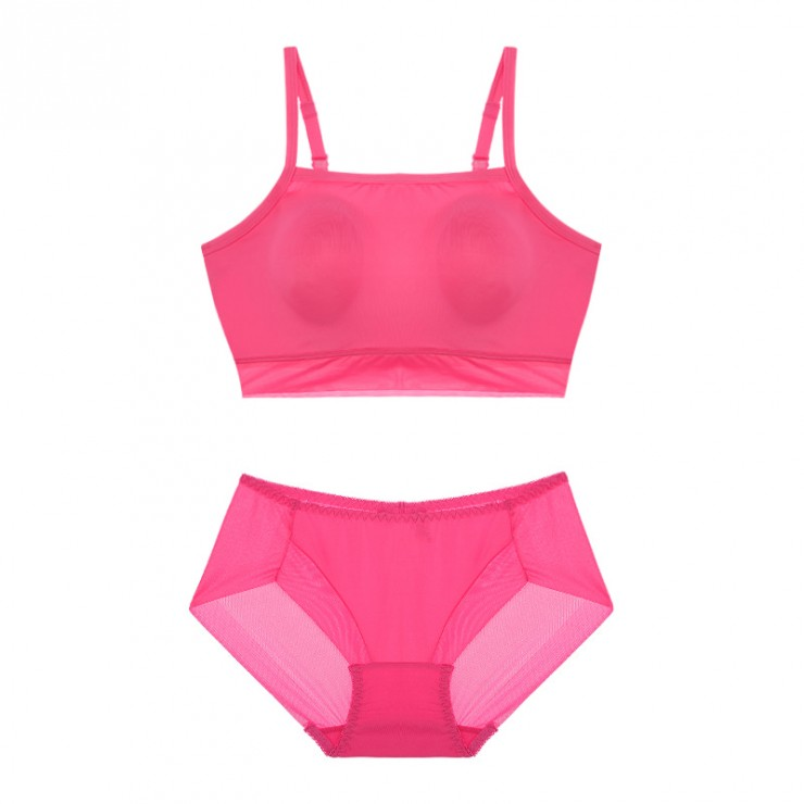 Pink Sporty Lulu Bralette (2mm Padded) & Panty Set