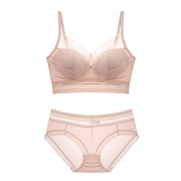 Beige Comfort Coolsilk Bralette & Panty Set
