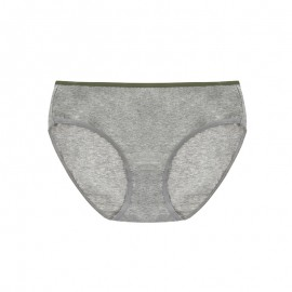Gray Cotton Basic Hiphugger Panty