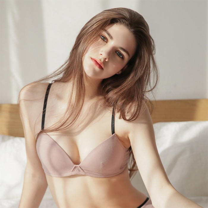 IndiPink Cotton Basic Bralette (5mm Padded)