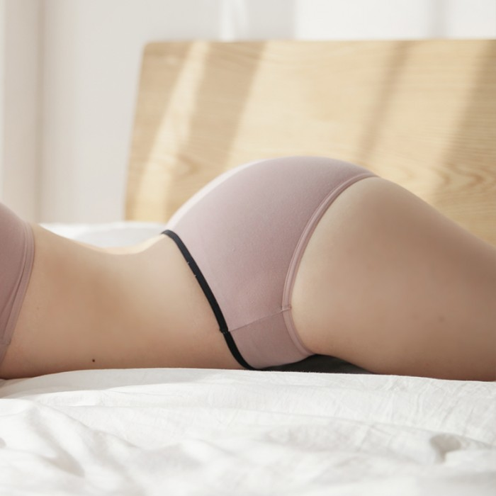 IndiPink Cotton Basic Hiphugger Panties