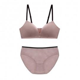 IndiPink Cotton Basic Bralette & Panty Set