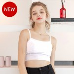 White Cotton Crop Top Bralette (6mm Padded)