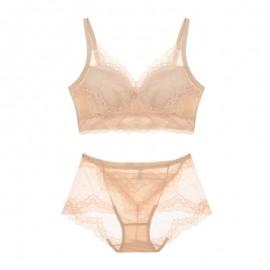 Beige Lacy Comfort Bralette & Panty Set