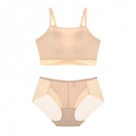 Beige Sporty Lulu Bralette & Panty Set