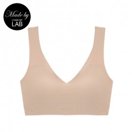Beige Cotton Comfy Bralette (Only A,B Cup)