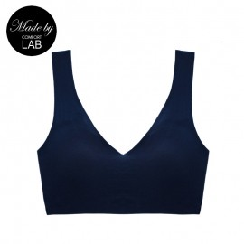 Navy Cotton Comfy Bralette (Only A,B Cup)