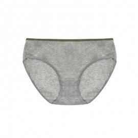 Gray Cotton Basic Hiphugger Panty