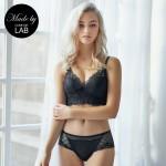 Black Lacy Comfort Bralette & Panty Set