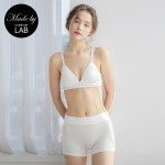 Ivory Modal Basic Bralette & Panty Set